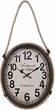 Clayre & Eef 6KL0315 Uhr Wanduhr Antiquité de PARIS braun ca. 35 x 6 x 43 cm