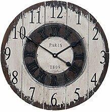 Clayre & Eef 6KL0374 Uhr Wanduhr PARIS 1809 ca. Ø 40 x 3 cm