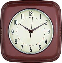 Clayre & Eef 6KL0448 Uhr Wanduhr bordeaux 28 x 8 x 28 cm