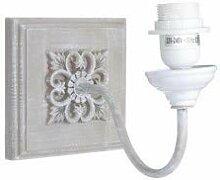 Clayre & Eef 6LMP334 Lampe Wandlampe grau