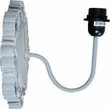Clayre & Eef 6LMP431 Wandlampe Lampe grau ca. 25 x
