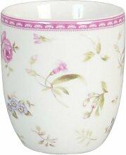 Clayre & Eef ERSM Kaffee Tasse Cup Becher Porzellan ELEGANT ROSE