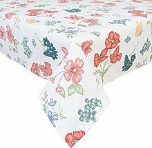 Clayre & Eef FF01 Tischdecke Blumen Motiv 100 *