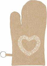 Clayre & Eef ~ Floral Heart ~ Herz ~ Grillhandschuh ~ Ofenhandschuh ~ Backhandschuh