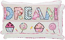 Clayre & Eef Kissen rosa 33x18 cm Dream