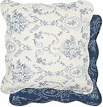 Clayre & Eef Kissenhülle Blau Muster 50x50cm