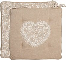 Clayre & Eef LWL29 Lace with Love Stuhlkissen