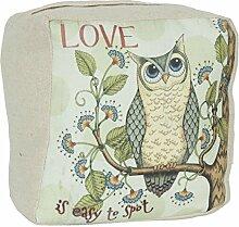 Clayre & Eef Marken Türstopper Eule Grün Türhalter Owl