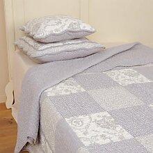 Clayre & Eef Q080.060 Tagesdecke Plaid Quilt Decke