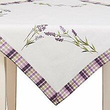 Clayre & Eef S004.001 Tischdecke Lavendel ca. 85 x 85 cm