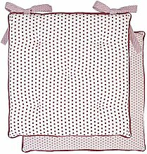Clayre & Eef Stuhlkissen rot 40x40 cm Punkte
