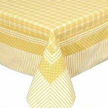 Clayre & Eef Tischdecke Patchwork gelb 100x100 cm