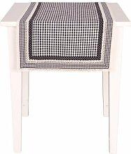 Clayre & Eef Tischläufer BLACKCHECK schwarz/weiß