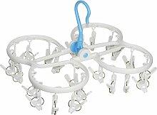 CleanAid Stabile Kleine Wäschespinne 24 Klammern,