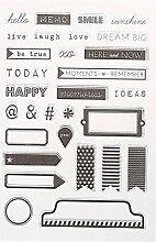 Clear Stamp DIY Scrapbooking Album Papier Karten