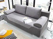 CLEO Schlafsofa Schlafcouch Sofa m. Schlaffunktion Couch Grau