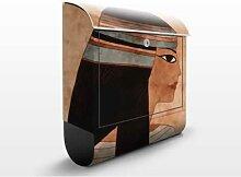 Cleopatra 39x46x13cm Briefkasten, Standbriefkasten, Briefkästen, Cleopatra, Ägypten, Pharaonen, Königin, Wüste