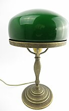 Clever-Deko Tischlampe Bankerslampe Pilz Lampe