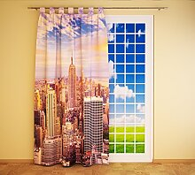 Clever-Kauf-24 Schlaufenschal Vorhang Gardine New