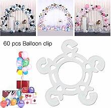 Clevoers Ballonbogen Ballongirlande Kit, 60 Stück