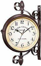 Clevoers Doppelseitig Bahnhofsuhr Wanduhr Uhr