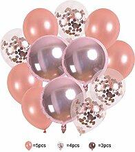 Clevoers Konfetti Ballon Luftballon Folienballons