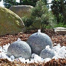 CLGarden Granit Springbrunnen SB1 3 teiliger Kugel