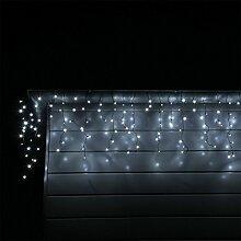 CLGarden LED Eisregen Lichterkette mit 600 kalt