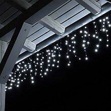 CLGarden Premium LED Eisregen Lichterkette mit 600