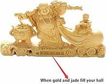 CLHK Maitreya Buddha handgeschnitzte boxwood