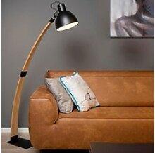 click-licht Stehlampe Stehleuchte Curf aus Holz