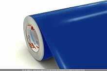 CLICKANDPRINT 3m Klebefolie, 63cm breit, Signalblau » Mülleimerbeschriftung / Mülltonnenaufkleber / Afballeimeraufkleber / Papierkorbaufkleber