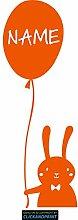 CLICKANDPRINT Aufkleber » Hase mit Luftballon