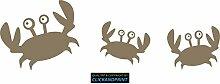CLICKANDPRINT Aufkleber » Krabbe mit Kindern , 130x41,9cm, Messing Metallic • Dekoaufkleber / Autoaufkleber / Sticker / Decal / Vinyl