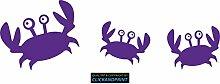 CLICKANDPRINT Aufkleber » Krabbe mit Kindern , 150x48,4cm, Hellviolett • Dekoaufkleber / Autoaufkleber / Sticker / Decal / Vinyl