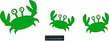CLICKANDPRINT Aufkleber » Krabbe mit Kindern , 60x19,3cm, Gelbgrün • Dekoaufkleber / Autoaufkleber / Sticker / Decal / Vinyl