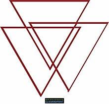 CLICKANDPRINT Aufkleber » Prisma, 60x53,4cm, Dunkelrot • Dekoaufkleber / Autoaufkleber / Sticker / Decal / Vinyl
