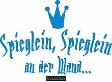CLICKANDPRINT Aufkleber » Spieglein, Spieglein, 170x113,6cm, Hellblau • Dekoaufkleber / Autoaufkleber / Sticker / Decal / Vinyl