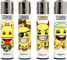 Clipper 4er Set Emoji Party Feuerzeug (groß)