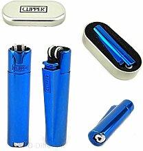Clipper Blue Icy Clipper Metallfeuerzeug + Etui