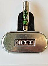 Clipper Classic Metal Flint Silber Feuerzeug