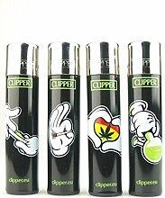 Clipper Classic Weed Cartoon Hands Feuerzeug 5