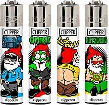 Clipper Feuerzeug ZWERGE im 4er Pack