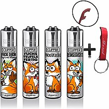 Clipper Fuchs Fox Original Lighter Flints 4 Set