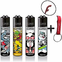 Clipper Funsports Animal Original Lighter Flints 4