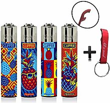 Clipper Hipster Pineapple Original Lighter Flints