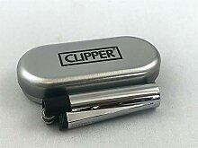 Clipper Metall Metall Schwarz Bi-Color Feuerzeug