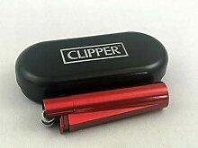 Clipper Metall Teufel Rot Feuerzeug Box (ovp) Edel