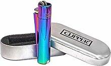 Clipper Rainbow Metall-Feuerzeug, mit Feuerstein,
