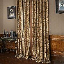 CLL/ zwei Panele Schokolade Blumen / Pflanzen Polyester Panel , Yes - Beige Lining-Grommet Top